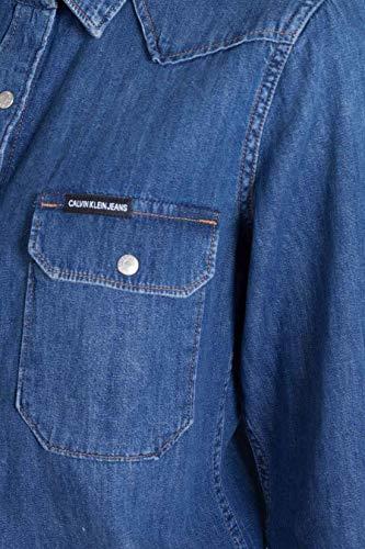 Calvin Donna Klein In Camicia Taglia L Western Jeans zEEIr