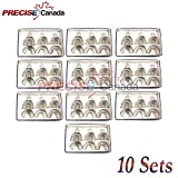 PRECISE CANADA: SET OF 10 DENTAL IMPRESSION TRAYS BABY SET OF 6 PCS PEFORATED DENTAL INSTRUMENTS