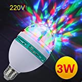 XEDUO Rotating Light Bulb, E27 3W AC220V Colorful Rotating Bubble Stage Light Disco DJ Party Light Bar KTV Lighting Bulb (White) For Sale