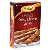 Roland Twists, Swiss Cheese, 3.5 Ounce (Pack of 12)