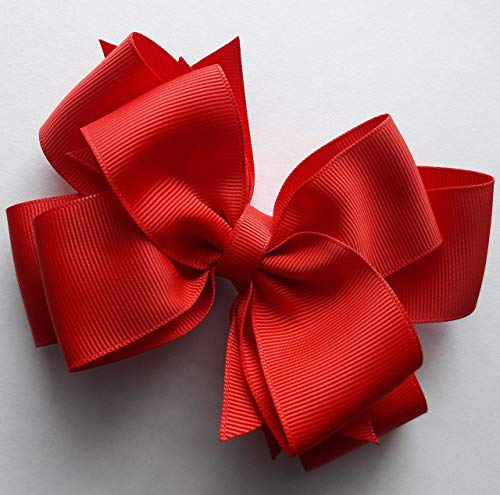 Red Hair Bow...Red Girls Hair Bow....Triple Layer Hair Bow...Toddler Hair Bow..4 inch bow..5 inch bow...6 inch bow..School Bow..Uniform Bow