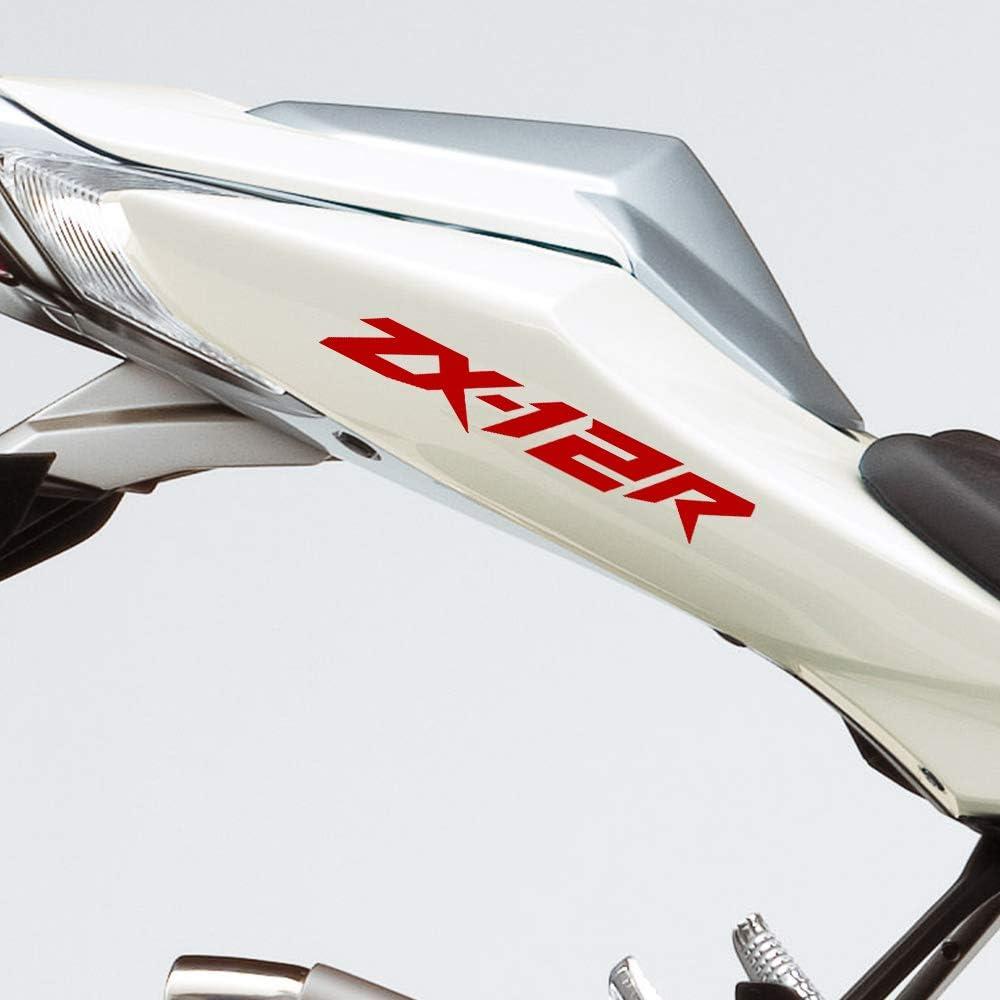 Gloss Black Motorcycle Superbike Sticker Decal Pack Waterproof for Kawasaki ZX-12R