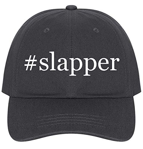 The Town Butler #Slapper - A Nice Comfortable Adjustable Hashtag Dad Hat Cap, Dark Grey