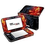 Skins4u Nintendo NEW 3DS XL Skin - Design Aufkleber Sticker Set Motiv: Flower of Fire