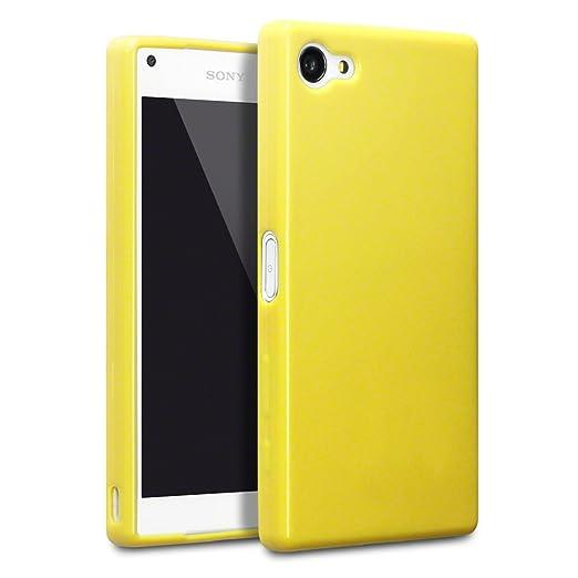 29 opinioni per Terrapin TPU Gel Custodia per Sony Xperia Z5 Compact Case, Colore: Giallo