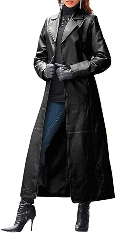 Womens Wool Blend Furry Collar Slim Fit Belt Jacket Mid Long Trench Overcoat