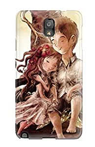 Awesome Design Romantic Boy Girl Painting Hard Case Cover For Iphone 5/5S Kimberly Kurzendoerfer