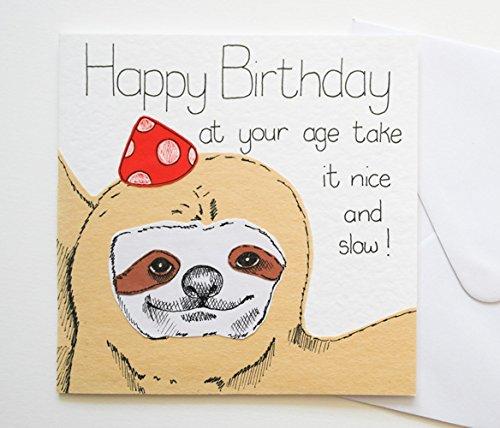 Amazoncom Sloth Birthday Card Handmade