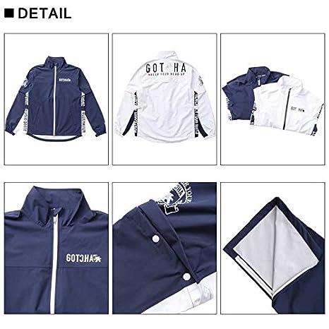 3b85d54f87 Amazon | (ガッチャ ゴルフ) GOTCHA GOLF レイン ジャケット 99GG1602 ネイビー Lサイズ | コート・ジャケット 通販