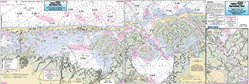 - Surf City to Brigantine Inlet, NJ - Laminated Nautical Navigation & Fishing Chart by Captain Segull's Nautical Sportfishing Charts | Chart # LEG359