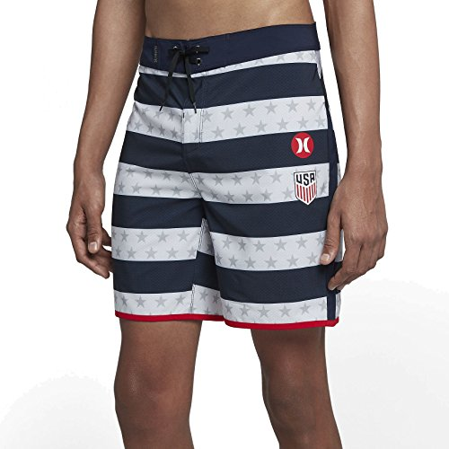 Hurley AJ7270 Men's Phantom National Team Short, White - 30