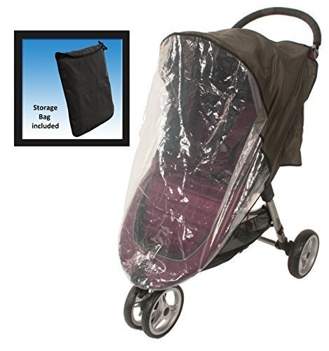 Comfy Baby! Universal Stroller Weather Shield - Fits all Full Size & Jogging Strollers - Black Cover (Jogger Baby Schwinn)