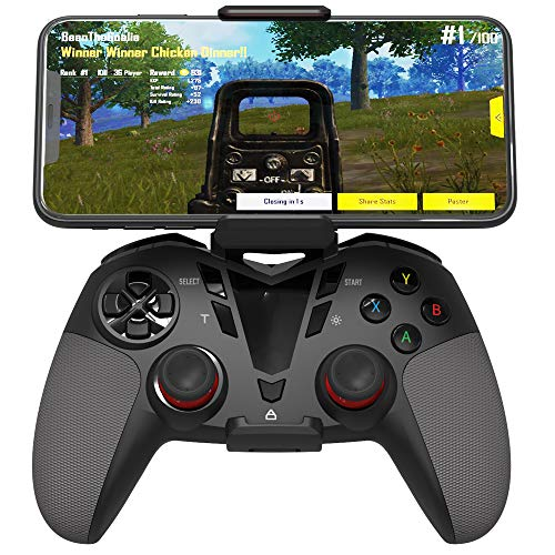 Delta essentials Bluetooth Wireless Mobile Game Controller for iOS/Android OS/PS3/PC Windows, Gamepad for Mobile Gaming Support Keymapping Black (Best Windows Mobile Games)