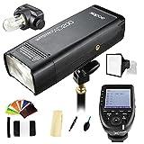 Godox AD200 200Ws 2.4G TTL 1/8000 HSS High-Speed Sync Flash Strobe Speedlite Monolight+Godox XPro-N Wireless Flash Trigger Transmitter Compatible for Nikon Cameras+ 2900mAh Lithium Battery