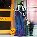 Halloween Outdoor Decorative Talking Witch, Standing Halloween Decorative Witch | Talking Spooky Outdoor Witch