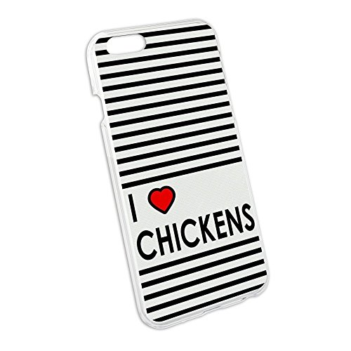 I Love Heart Chickens Snap On Hard Protective Case for Apple iPhone 6
