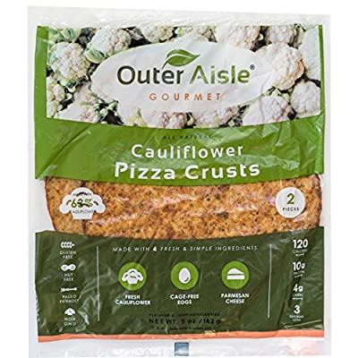 Outer Aisle Gourmet - (8 crusts) Cauliflower Pizza Crusts - Low Carb, Gluten Free, Paleo Friendly, Keto - 4 Pack (8 Crusts) …