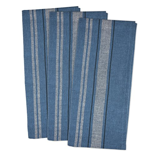 DII Oversized Monogrammable Farmhouse Towels Chambray