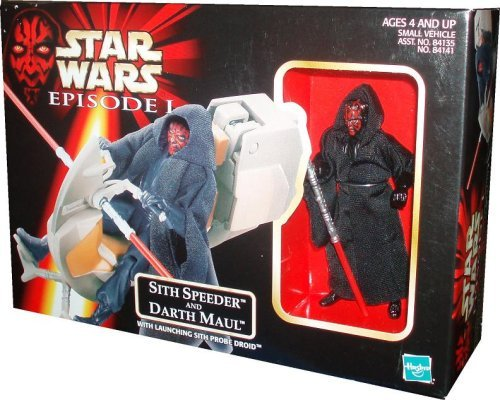 (Star Wars Episode I: The Phantom Menace, Sith Speeder and Darth Maul Action Figure )