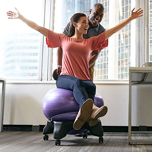 Gaiam Classic Balance Ball Chair Exercise Stability Yoga