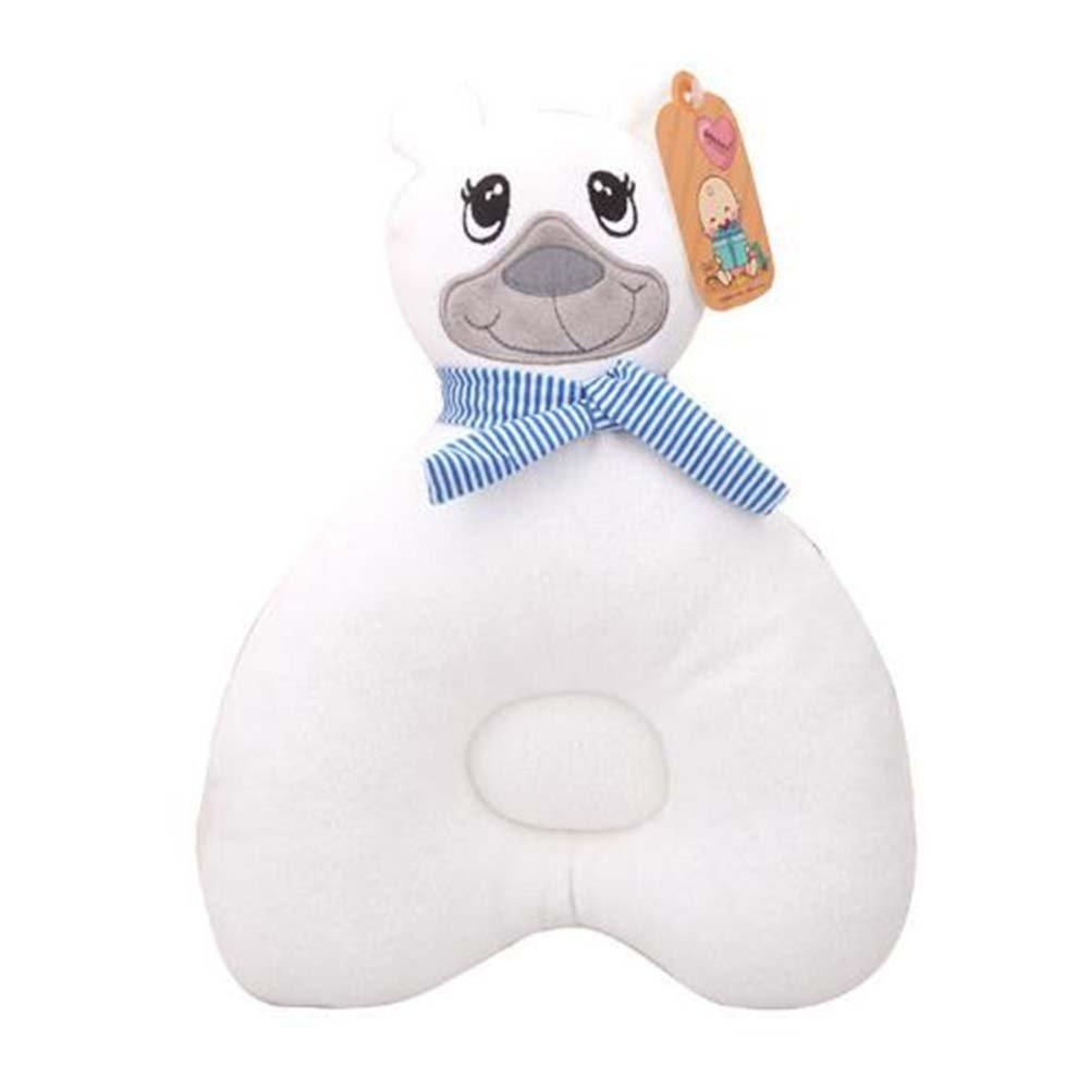 ANQI Bear Shape Pillow Newborn Pillow to Prevent Flat Head Syndrome Cartoon Head Restraint Pillow 3PCS