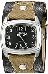 EOS New York Unisex 92LTOBBLK Fuse Two Tone Leather Strap Watch