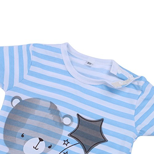 Verypoppa Toddler Baby Cute Short Sleeve Cotton Jumpsuits Rompers