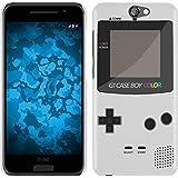 "HTC One A9 Hülle Silikon / Gel / TPU Case Cover Schutzhülle - ""Retro Gameboy"" Muster Schutzhülle für HTC One A9 Weiß"