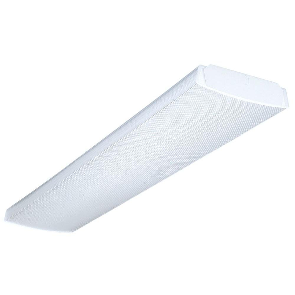 Lithonia Lighting Fluorescent Square 2 Lamp 4 Feet 120v Wraparound Light 32w T8 Close To Ceiling Fixtures Com