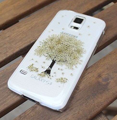 Lg Resin Tree - LG V20 Phone Case Cover- Pressed Dried Flowers On LG G6, LG G5, LG G4, LG G3 Crystal Clear Snap on Cases - Real Flowers Sony Xperia Z3, Z3 Mini, Z5 Mini Cover: Winter White Tree Theme
