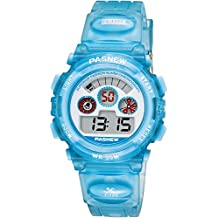 Kids Digital Watches - VOEONS Sports Watch for Boys Girls, Children Waterproof Alarm Watch, Light Blue