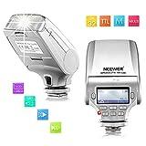 Neewer NW320 TTL LCD Display Flash Speedlite for Panasonic Lumix DMC GF7 GM5 GH4 GM1 GX7 G6 GF6 GH3 G5 GF5 GX1 GF3 G3, Olympus OM-D E-M5 II E-M10 E-M1 PEN E-PL7 E-P5 E-PL6 E-PL5 E-PM2 E-P3 E-PL3
