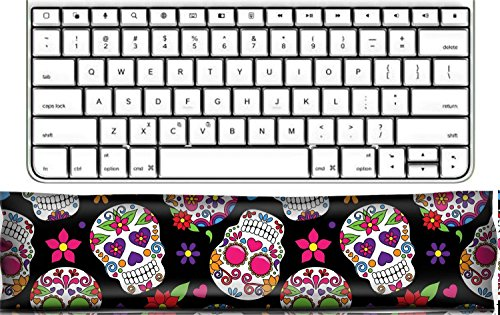Luxlady Keyboard Wrist Rest Pad Office Decor Wrist Supporter Pillow IMAGE ID: 36626870 Day of the Dead Sugar Skull Seamless Vector Background
