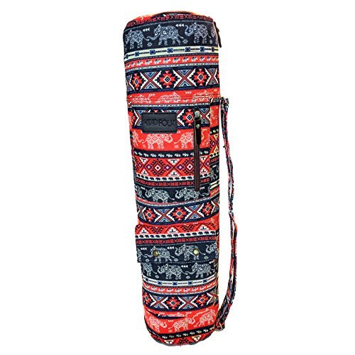 Yoga Mat Sling Bags Carrier Patterned Canvas Three Pockets – DiZiSports Store