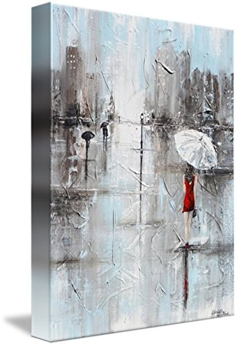 Wall Art Print entitled The Woman In Red by Christine Krainock | 24 x - And Tiffany Co London
