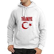 lepni.me N4129H Türkey Türkiye Mens Cotton Hooded Sweatshirt,Hoodie