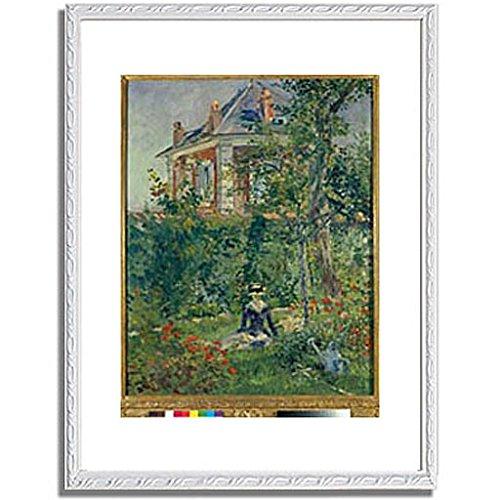 エドゥアールマネ Edouard Manet「A Garden Nook at Bellevue. 1880 」 インテリア アート 絵画 プリント 額装作品 フレーム:装飾(白) サイズ:S (221mm X 272mm) B00NKRPRXA 1.S (221mm X 272mm)|6.フレーム:装飾(白) 6.フレーム:装飾(白) 1.S (221mm X 272mm)