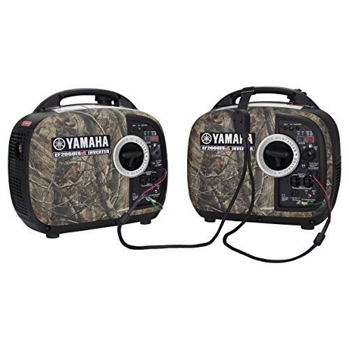 Yamaha EF2000iSv2 Portable RV Generator 2000 Watt Camo Kit with Sidewinder Parallel Cable | 2 Camo Generators / Inverters, 1 Sidewinder Parallel Cable | Camping Generator
