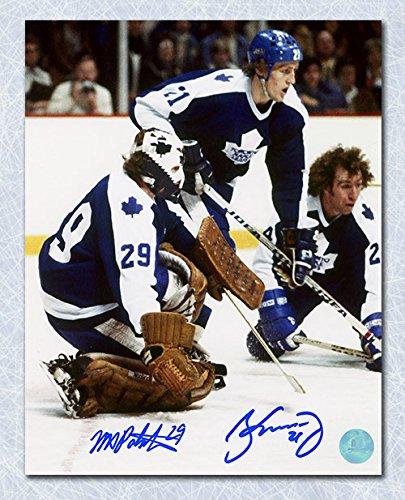 meet 3d01e da9ef Borje Salming & Mike Palmateer Toronto Maple Leafs Dual ...