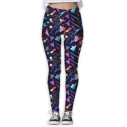 ZGZGZ Womens Colored Geometric Paper Pieces Printed Yoga Pants Workout Capris Lightweight Yoga Leggings -
