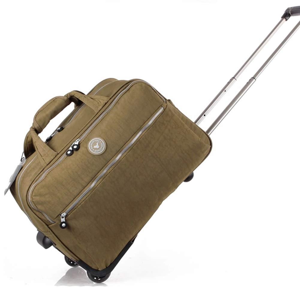 ZHANGQIANG ハンドトラベル荷物トロリーケース 手荷物持ち運び用スーツケースバッグスーパーライトウェイト56 Cm 2.3 Kg 2ホイール、 (色 : Khaki, サイズ さいず : 56*31*33) 56*31*33 Khaki B07R3TPVW1