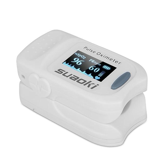 1 opinioni per Suaoki FS20A Pulsossimetro da dito, portatile, con display Oled, per bambini e