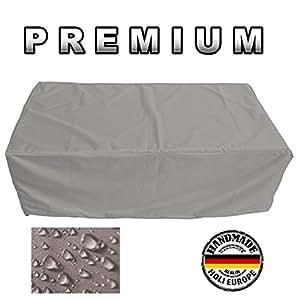 Muebles de Jardín Premium Funda Protectora/mesa de jardín Lona B 110cm x t 55cm x 160cm, color blanco