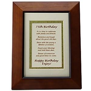 Amazon Com Happy 75th Birthday Toast Poem 75th