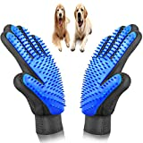 LPVLUX Pet Grooming Glove Kit, Set of 3, Cat Dog Gift Set, Hair Remover, for Long and Short Hair Grooming of Dogs, Horses, Cats, Bunnies, Left & Right Gloves, by Bemix Pets