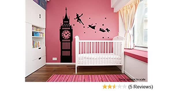 de8866c0c312 Amazon.com: vinyl wall decal sticker dorm Peter Pan Never Land Kids  Children Story a52: Home & Kitchen