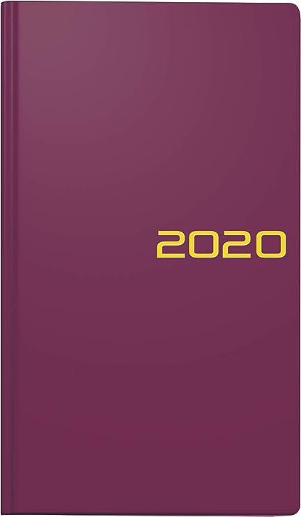 BRUNNEN 107561503 Taschenkalender//Wochen-Sichtkalender Modell 756 2 Seiten = 1 Woche, 8,7 x 15,3 cm, Grafik-Einband Strand, Kalendarium 2020, ohne Registerschnitt