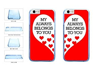 Bff My Heart Belongs to You Clear Plastic Phone Case Back Cover Apple iPhone 6 Plus (5.5 inches screen) includes BleuReign(TM) Cloth and Warranty Label