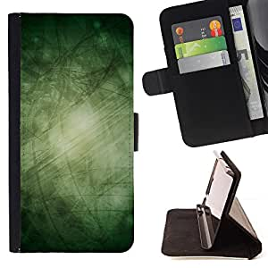 Bright-Giant (Green Mysterious Fairytale Wonder) Modelo Colorido Cuero Carpeta Tirón Caso Cubierta Piel Holster Funda Protección Para HTC One Mini 2 M8 MINI