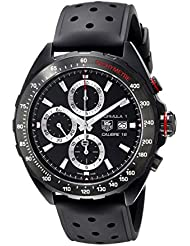 TAG Heuer Mens CAZ2011.FT8024 Stainless Steel Watch with Black Rubber Band